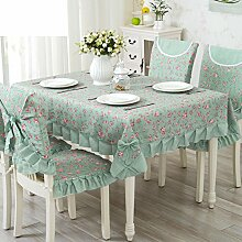 TRE Europäische Garten frische Tischwäsche-Stoff/Tischdecke decke/Tischdecke decke/Abdeckung Tuch-G 110x110cm(43x43inch)