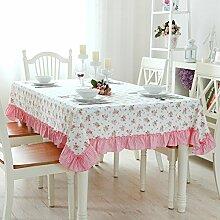 TRE Europäische Garten Plaid Tabelle Tuchgewebe/ Baumwolle Tischdecke/Modern und schlicht Spitze Tischdecke-E 130x180cm(51x71inch)