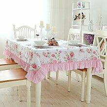 TRE Europäische Garten Plaid Tabelle Tuchgewebe/ Baumwolle Tischdecke/Modern und schlicht Spitze Tischdecke-D 140x200cm(55x79inch)