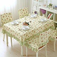 TRE Europäische Garten Plaid Tabelle Tuchgewebe/ Baumwolle Tischdecke/Modern und schlicht Spitze Tischdecke-A 140x200cm(55x79inch)
