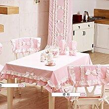 TRE Europäische Garten Tischdecke Baumwollstoff/ Spitzen Tischdecke/ moderne Runde Tischdecke/Tischdecke decke/Abdeckung Tuch-A 140x140cm(55x55inch)