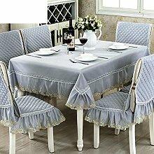 TRE Europäische Stoff Tischdecke/ Tischtuch-C