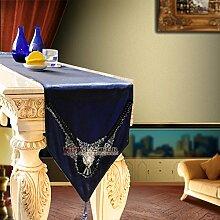 TRE European-Style Luxus Tischläufer/Bett Renner/Side Cabinet Läufer-A 35x280cm(14x110inch)