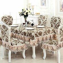 TRE European-Style Tisch Tuchgewebe/ längliche Tischdecke/Square Tischdecke Stoff/Tischdecke decke-C Durchmesser180cm(71inch)