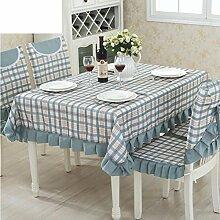 TRE European-Style Tisch Tuchgewebe/Pastorale Spitze Tischdecke/Abdeckung Tuch-J 90x90cm(35x35inch)