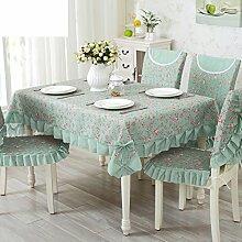 TRE European-Style Tisch Tuchgewebe/Pastorale Spitze Tischdecke/Abdeckung Tuch-B 110x160cm(43x63inch)