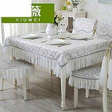 TRE European-Style Tisch Tuchgewebe/Pastorale Spitze Tischdecke/Abdeckung Tuch-P 150x150cm(59x59inch)