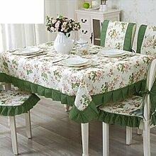 TRE European-Style Tisch Tuchgewebe/Pastorale Spitze Tischdecke/Abdeckung Tuch-N 110x160cm(43x63inch)