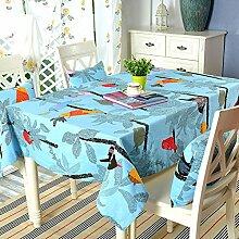 TRE Garten frische Baumwolle Tabelle Tuchgewebe/ Kaffee Tisch rund Tischdecken Karte Tisch/Abdeckung Tuch-D 140x220cm(55x87inch)