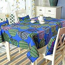 TRE Garten frische Baumwolle Tabelle Tuchgewebe/ Kaffee Tisch rund Tischdecken Karte Tisch/Abdeckung Tuch-C 140x220cm(55x87inch)