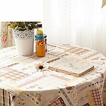 TRE Garten frische Baumwolle und Leinen Tabelle Tuchgewebe/Tischdecke decke/Tischdecke decke/Tischdecken-B 120x80cm(47x31inch)