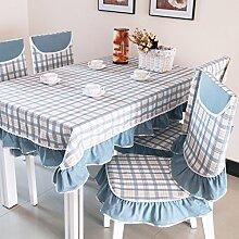 TRE Garten frische Tischwäsche-Stoff/runder Tisch/ Tischtuch/Abdeckung Tuch-B 110x150cm(43x59inch)