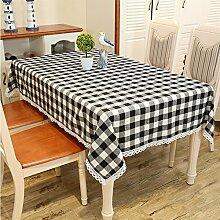 TRE Garten-Tischdecke/Einfachen karierten Stoff/Tischdecken/ Restaurant Tischdecken/ decken Handtücher/ Handtuch-A 130x130cm(51x51inch)