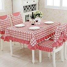 TRE Garten Tischdecke Stoff/ Karierten Tischdecke/Tischdecke decke/Tischdecke decke/Abdeckung Tuch-E 130x180cm(51x71inch)