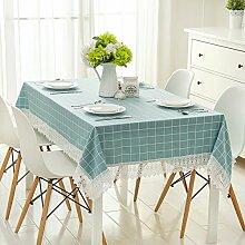 TRE Garten-wie Baumwolle und Leinen Tabelle Tuchgewebe/ wasserlösliche durchbrochene Spitze Tischdecke/Tischdecke decke/Abdeckung Tuch-B 150*200cm(59x79inch)