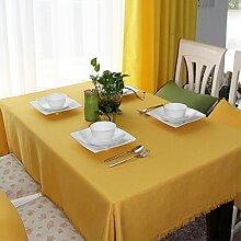 TRE gelbe Tischdecke/Europäische Garten Tee Lounge Café Tuch/ Tischtuch/Tischdecke decke-A 130x180cm(51x71inch)
