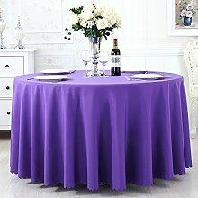 TRE Hotel Runde Tisch rund Tischdecken/Tischdecken/Reine Farbe Büro Konferenz Tisch Tischdecke/Tischdecke decke-K Durchmesser200cm(79inch)
