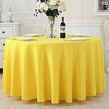TRE Hotel Runde Tisch rund Tischdecken/Tischdecken/Reine Farbe Büro Konferenz Tisch Tischdecke/Tischdecke decke-P Durchmesser240cm(94inch)
