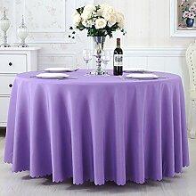 TRE Hotel Runde Tisch rund Tischdecken/Tischdecken/Reine Farbe Büro Konferenz Tisch Tischdecke/Tischdecke decke-E 150x210cm(59x83inch)