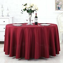 TRE Hotel Runde Tisch rund Tischdecken/Tischdecken/Reine Farbe Büro Konferenz Tisch Tischdecke/Tischdecke decke-M Durchmesser180cm(71inch)