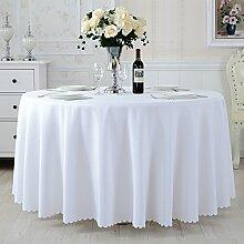 TRE Hotel Runde Tisch rund Tischdecken/Tischdecken/Reine Farbe Büro Konferenz Tisch Tischdecke/Tischdecke decke-O 150x210cm(59x83inch)