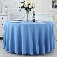 TRE Hotel Runde Tisch rund Tischdecken/Tischdecken/Reine Farbe Büro Konferenz Tisch Tischdecke/Tischdecke decke-B Durchmesser300cm(118inch)