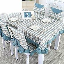 TRE Karierten Tischdecke/Länglichen Tisch Tuchgewebe/Tischdecke decke/Pastorale Gabe-A 130x130cm(51x51inch)