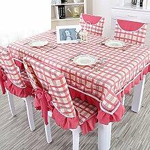 TRE Karierten Tischdecke/Länglichen Tisch Tuchgewebe/Tischdecke decke/Pastorale Gabe-B 110x160cm(43x63inch)