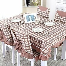 TRE Karierten Tischdecke/Länglichen Tisch Tuchgewebe/Tischdecke decke/Pastorale Gabe-C 110x160cm(43x63inch)