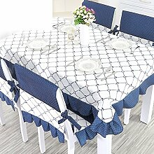 TRE Karierten Tischdecke/Länglichen Tisch Tuchgewebe/Tischdecke decke/Pastorale Gabe-D 110x160cm(43x63inch)