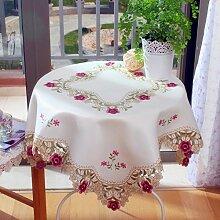 TRE Pastoralen Stil der Spitze Stickerei Tisch Tuchgewebe/Tischdecke decke/ Round Table/Tischdecken/Tischdecken-A 58x118cm(23x46inch)