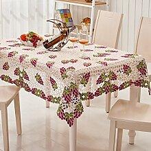 TRE Pastoralen Stil Tabelle Tuchgewebe/Tischdecke decke/runder Tisch/ decken Handtücher/Tischdecken-A 85x85cm(33x33inch)