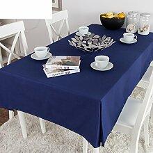 TRE Royal Blue Baumwolle Stoff Tischdecke/ Tisch Tisch Tischdecke/Einfache und moderne monochromatische Volltonfarbe Tischdecke-A 140x200cm(55x79inch)