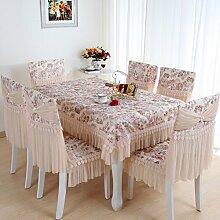 TRE Spitze Tischdecke Stoff/Tisch Gartentisch Tuch/ Runde Tischdecke/Abdeckung Tuch-B 110x160cm(43x63inch)