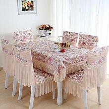 TRE Spitze Tischdecke Stoff/Tisch Gartentisch Tuch/ Runde Tischdecke/Abdeckung Tuch-A 130x180cm(51x71inch)