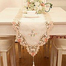 TRE Stickerei Garten Stoff Tischläufer/Tischdecken/ Tisch/ Flagge Flagge-B 40x172cm(16x68inch)
