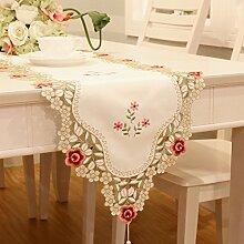 TRE Stickerei Garten Stoff Tischläufer/Tischdecken/ Tisch/ Flagge Flagge-A 40x240cm(16x94inch)
