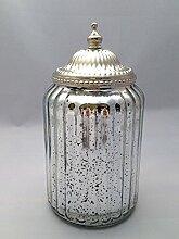 Treasured Memory Glasdose mit Deckel Bauernsilber
