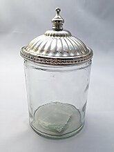Treasured Memory Glasdose mit Silber Deckel Dose