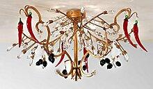 TrediciDesign Murano Glas Kristall Deckenleuchte