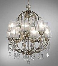 TrediciDesign Murano Glas Kristall Kronleuchter