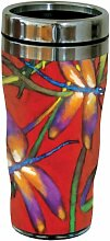 Tree-Free Greetings 77017 Becher To-go, Edelstahl, Libellules Collectible Art, 473ml