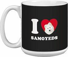 Tree-Free Grüße 20Oz 'Herz Samoyeds Artful