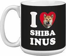 Tree-Free Grüße 20Oz 'Herz Shiba Inus
