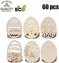 Treer Ostern Deko aus Holz, Osterdeko Osterhase Ei