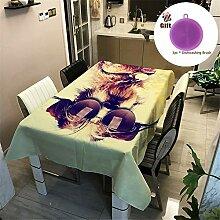 Treer Tischtuch Pflegeleicht, 3D Polyester