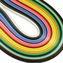 TREESTAR 50 Farben 500 Streifen Kinder Papier Quilling Set Handgemachte Bunte DIY Origami Papier Dekorative Papier Werkzeuge (Papier Länge 53 cm Breite 7 cm)