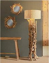 Treibholz Stehlampe REGATA  inkl. Lampenschirm