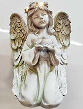 Tremont Floral Engel-Gartenfigur mit beleuchtetem