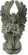 Tremont Gartenfigur Engel mit Blumenmuster, für